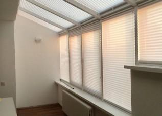 Шторы плиссе - серия 36 на потолочные окна и зимние сады (управление ручкой)