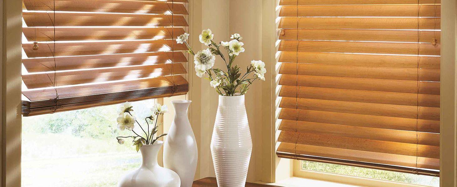 Деревянные и бамбуковые горизонтальные жалюзи 50 мм