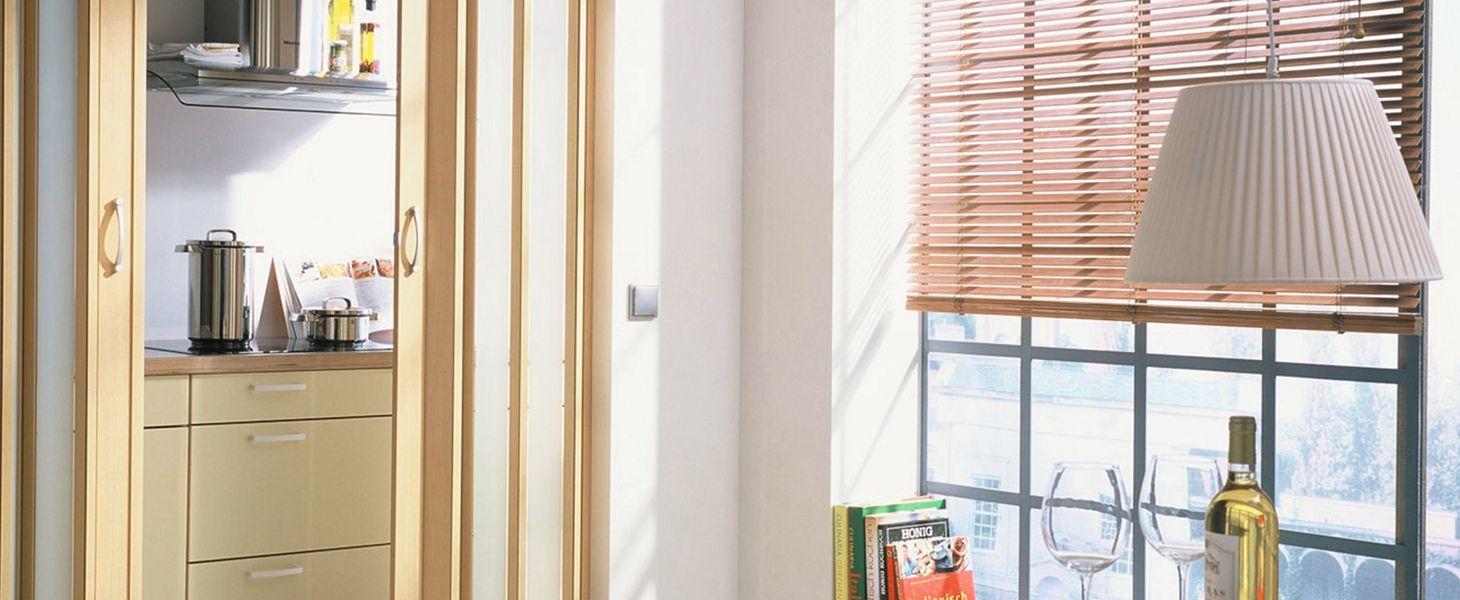 Деревянные и бамбуковые горизонтальные жалюзи 25 мм