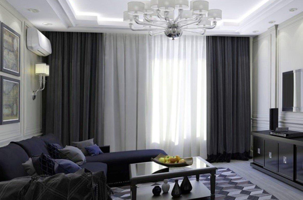 дизайн штор в современном стиле фото под